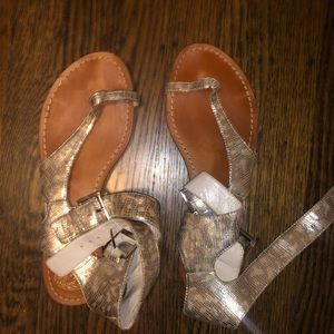 Vince Camuto Gold Sandals Size 7